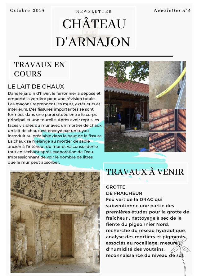Emailing chateau arnajon Ocobre 2019
